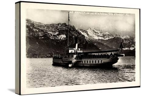 Lac D'Annecy, Bateau Ville D'Annecy, Dampfer--Stretched Canvas Print