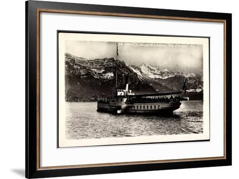 Lac D'Annecy, Bateau Ville D'Annecy, Dampfer--Framed Art Print