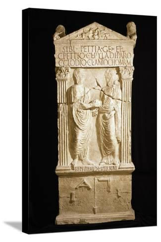 A Copy of Stele for Builder Pettia and His Family--Stretched Canvas Print