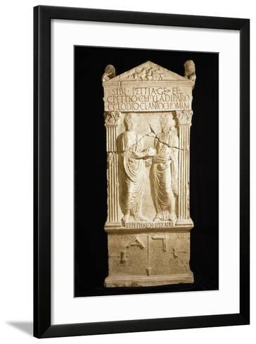 A Copy of Stele for Builder Pettia and His Family--Framed Art Print