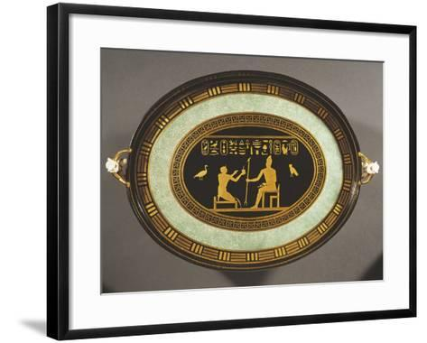 Tray with Egyptian Decorations, Porcelain, 1790-1800--Framed Art Print