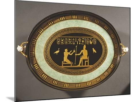 Tray with Egyptian Decorations, Porcelain, 1790-1800--Mounted Giclee Print