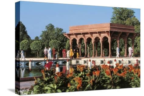 Pakistan, Punjab, Lahore, Shalimar Gardens, Built by Mughal Emperor Shah Jahan--Stretched Canvas Print