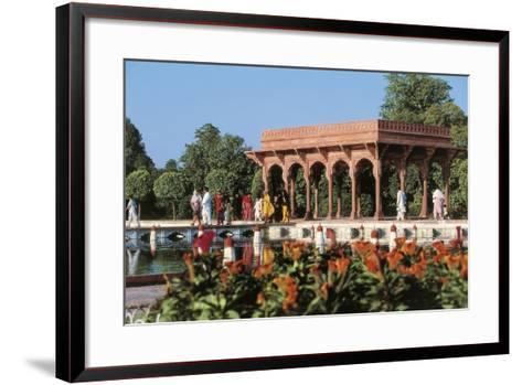 Pakistan, Punjab, Lahore, Shalimar Gardens, Built by Mughal Emperor Shah Jahan--Framed Art Print