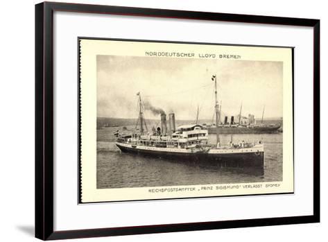 Norddeutscher Lloyd Bremen, Dampfer Prinz Sigismund--Framed Art Print