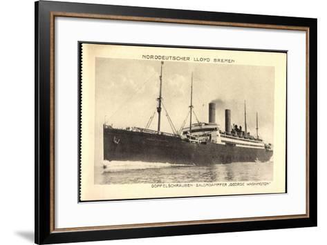 Norddeutscher Lloyd Bremen, Dampfer George Washington--Framed Art Print