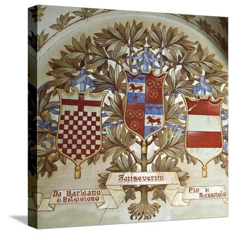 Coats of Arms of Italian Families--Stretched Canvas Print