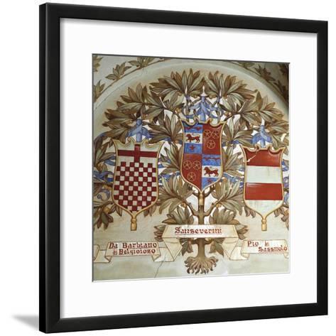 Coats of Arms of Italian Families--Framed Art Print