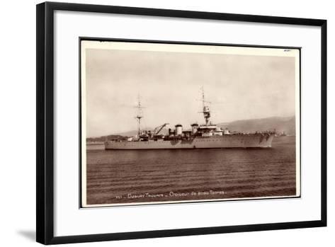 Französisches Kriegsschiff Duguay Trouain, Croiseur--Framed Art Print
