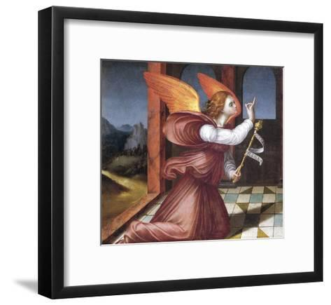 The Archangel Gabriel, Detail from the Annunciation--Framed Art Print