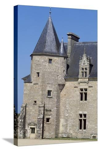 View of Chateau De Beaumanoir, Le Leslay, Brittany, France--Stretched Canvas Print