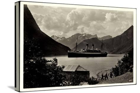 Hardangerfjord, HSDG, Dampfschiff Monte Olivia--Stretched Canvas Print