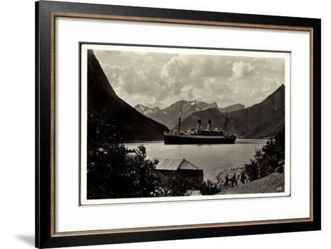 Hardangerfjord, HSDG, Dampfschiff Monte Olivia--Framed Art Print
