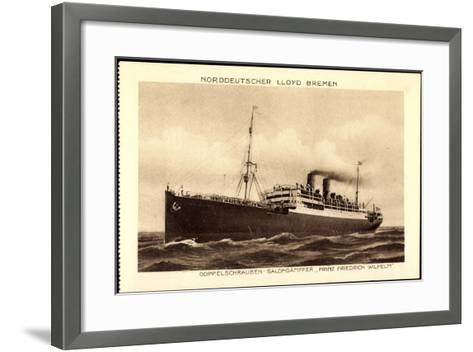 Lloyd Bremen, Dampfer Prinz Friedrich Wilhelm--Framed Art Print