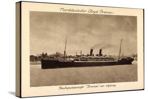 Sydney Australien, Postdampfer Bremen Der Ndl--Stretched Canvas Print