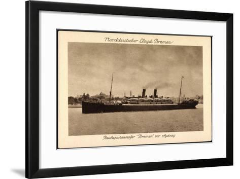 Sydney Australien, Postdampfer Bremen Der Ndl--Framed Art Print
