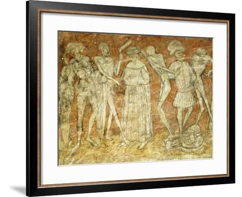Dance of Death Fresco in at La Chaise-Dieu Abbey, France--Framed Art Print