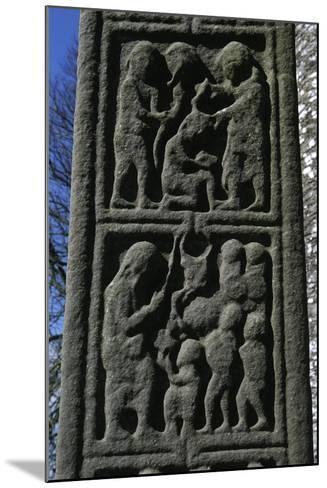 Ireland, County Louth, Monasterboice, Muiredach Cross, Detail--Mounted Giclee Print