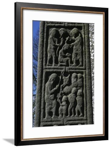 Ireland, County Louth, Monasterboice, Muiredach Cross, Detail--Framed Art Print