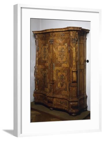 Baroque-Rococo Style Wardrobe with Walnut, Maple and Rosewood Veneer Finish, Austria--Framed Art Print