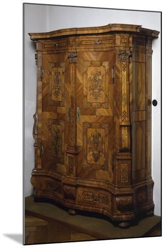 Baroque-Rococo Style Wardrobe with Walnut, Maple and Rosewood Veneer Finish, Austria--Mounted Giclee Print