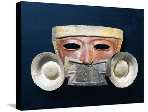 Mexico, Mask with Nasal Ornament--Stretched Canvas Print