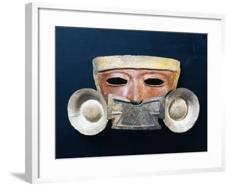 Mexico, Mask with Nasal Ornament--Framed Art Print