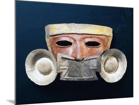 Mexico, Mask with Nasal Ornament--Mounted Giclee Print