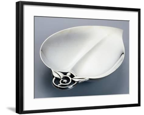 Leaf Shaped Catch-All, Tiffany Manufacture, 925 Sterling Silver--Framed Art Print