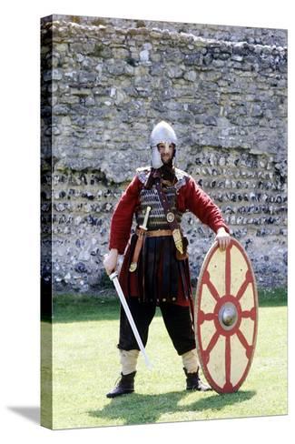 5th Century Romano British Warrior, Re-Enactment--Stretched Canvas Print