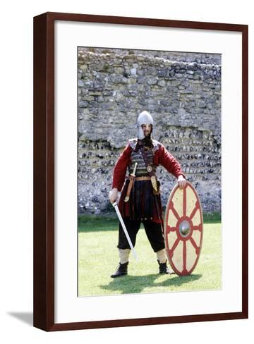 5th Century Romano British Warrior, Re-Enactment--Framed Art Print