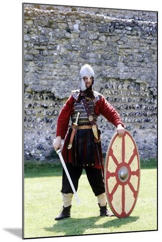 5th Century Romano British Warrior, Re-Enactment--Mounted Giclee Print