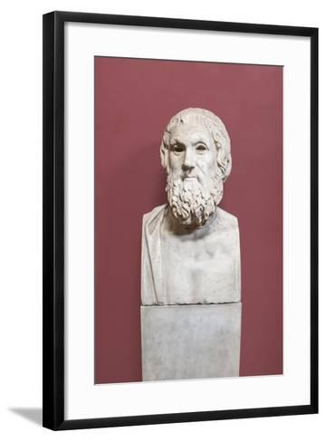 Portrait of Sophocles, Farnese Type, Vatican Museums, Rome, Italy--Framed Art Print