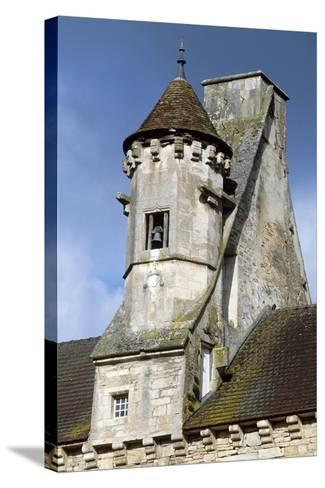 View of Chateau De Thenissey, Burgundy, France, 15th-16th Century--Stretched Canvas Print