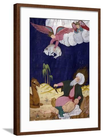 The Sacrifice of Isaac, Ottoman Miniature, Manuscript, Turkey, 16th Century--Framed Art Print