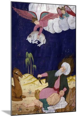 The Sacrifice of Isaac, Ottoman Miniature, Manuscript, Turkey, 16th Century--Mounted Giclee Print