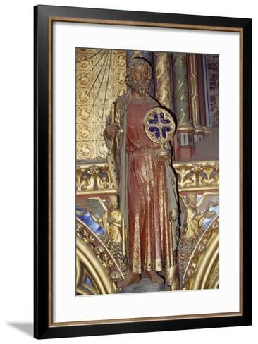Holy Apostle, Wooden Relief from the Upper Chapel of the Holy Chapel, Paris, Ile-De-France, France--Framed Art Print