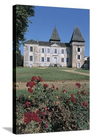 Facade of a Castle, Coulaures, Dordogne, Aquitaine, France--Stretched Canvas Print