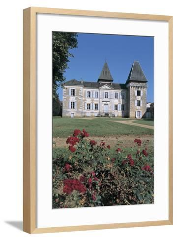 Facade of a Castle, Coulaures, Dordogne, Aquitaine, France--Framed Art Print