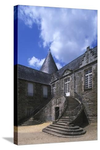 France, Brittany, Morbihan, Pontivy Rohan Castle--Stretched Canvas Print