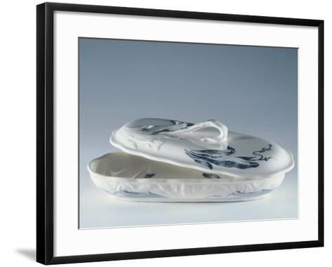 Toiletry Necessities, Porcelain--Framed Art Print