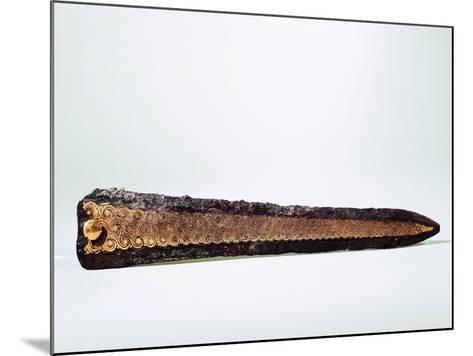 Goldsmithery, Damascened Gold Dagger, from Mycenae, Greece--Mounted Giclee Print