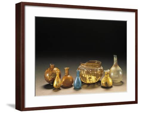 Roman Civilization. Glass Containers of Various Sizes, Ointment Bottles, Containers--Framed Art Print