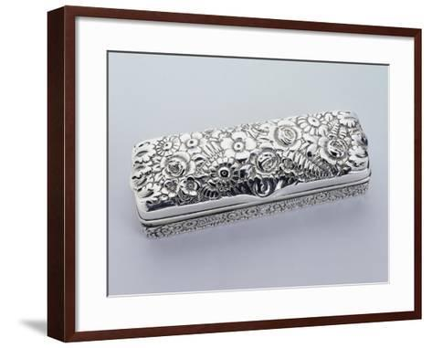 Box, Tiffany Manufacture, 925 Sterling Silver, United States of America, Early 20th Century--Framed Art Print