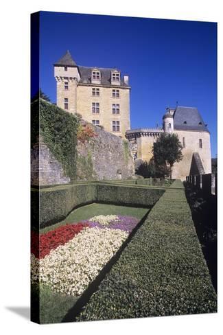 France, Aquitaine, Castelnaud-La-Chapelle, Fayrac Castle, 13th Century--Stretched Canvas Print