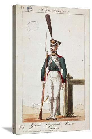 Uniforms of the Russian Army: Grenadier of the Imperial Guard--Stretched Canvas Print