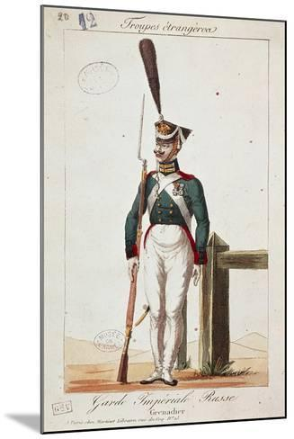 Uniforms of the Russian Army: Grenadier of the Imperial Guard--Mounted Giclee Print