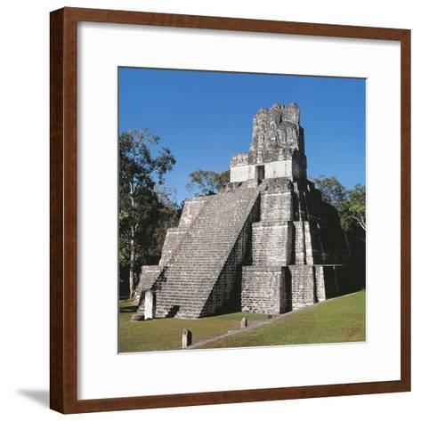 Guatemala, El Peten, Archaeological Site, Tikal National Park, Temple of the Masks or Moon--Framed Art Print