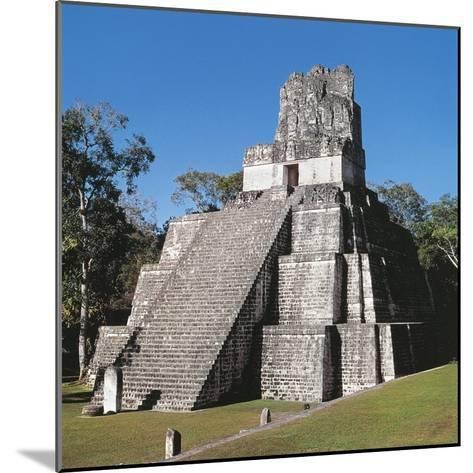 Guatemala, El Peten, Archaeological Site, Tikal National Park, Temple of the Masks or Moon--Mounted Giclee Print