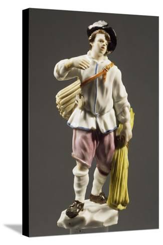 Peasant with Strip of Wood, 1760--Stretched Canvas Print